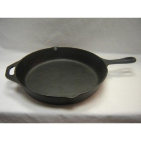 Cast Iron Deep Round Frying Pan (32cm X 5.7cm),4/C