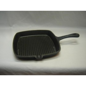 Cast Iron Square Grill Pan with Handle,4/C